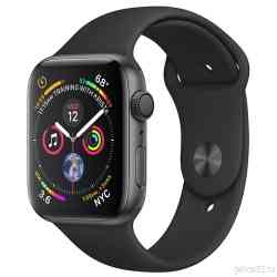 Apple Watch Series 4 44mm Space Gray Aluminum Case with Black Sport Band