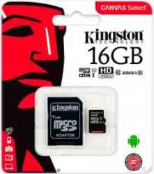 KINGSTON MicroSDHC 16Gb Class10 UHS-I U1 80Mb/s + Адаптер, RTL