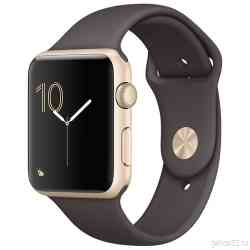 Apple Watch Series 2 42mm Gold Aluminum with Cocoa Sport Band