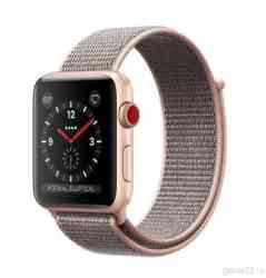 Apple Watch Series 3 GPS+Cellular 38mm Gold Aluminum Case with Pink Sand Sport Loop