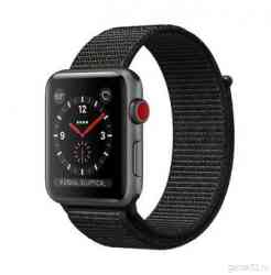 Apple Watch Series 3 GPS+Cellular 38mm Space Gray Aluminum Case with Black Sport Loop