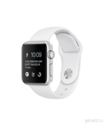 Apple Watch Series 1 38mm Silver Aluminum with White Sport Band