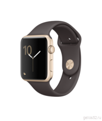 Apple Watch Series 1 42mm Gold Aluminum with Cocoa Sport Band