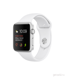 Apple Watch Series 1 42mm Silver Aluminum with White Sport Band