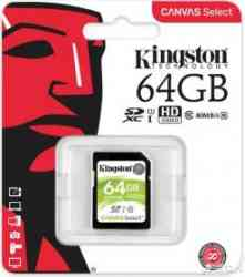 KINGSTON SDXC 64Gb Class10 UHS-I 80MB/s RTL