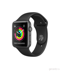 Apple Watch Series 1 42mm Space Gray Aluminum with Black Sport Band