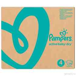 Pampers Подгузники Active Baby-Dry 9-14 кг, размер 4, 174 шт.