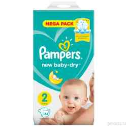 Pampers Подгузники New Baby-Dry 4-8 кг, размер 2, 144 шт.