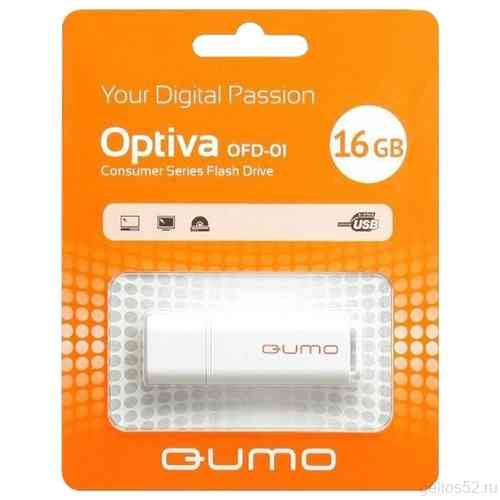 QUMO 16Gb Optiva 01 White USB 2.0